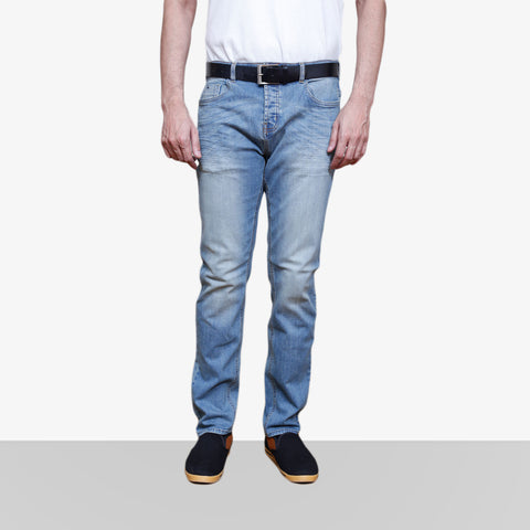 Home Bazar Denim Faded Light Blue Jeans 1 - HomeBazar.pk - 1