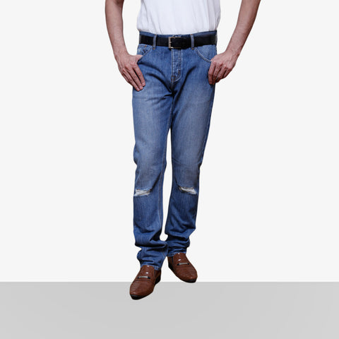Home Bazar Denim Faded Light Blue Jeans 2 - HomeBazar.pk - 1