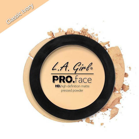 LA Girl Pro Face Pressed Powder Classic Ivory, ivory shade face powder