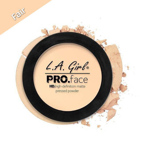 LA Girl Pro Face Pressed Powder Fair, Fair Shade Face Powder, Fair Face Powder