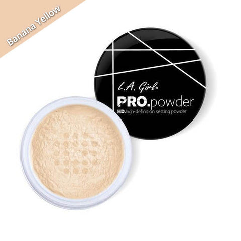 LA Girl Pro Powder HD Setting Powder Banana Yellow, yellow face powder