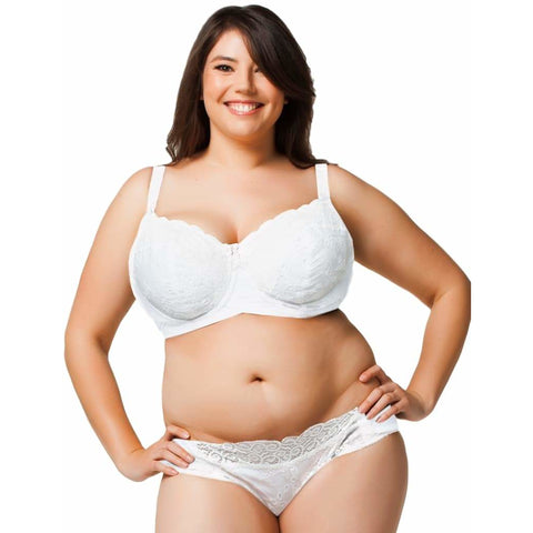 Cake Lingerie White Chocolate Cotton Lace Flexi-Wire Nursing Bra 20-1024