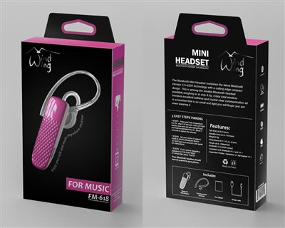 WindWing | Bluetooth Headset - Pink - Bluetooth -Warsaw Wireless
