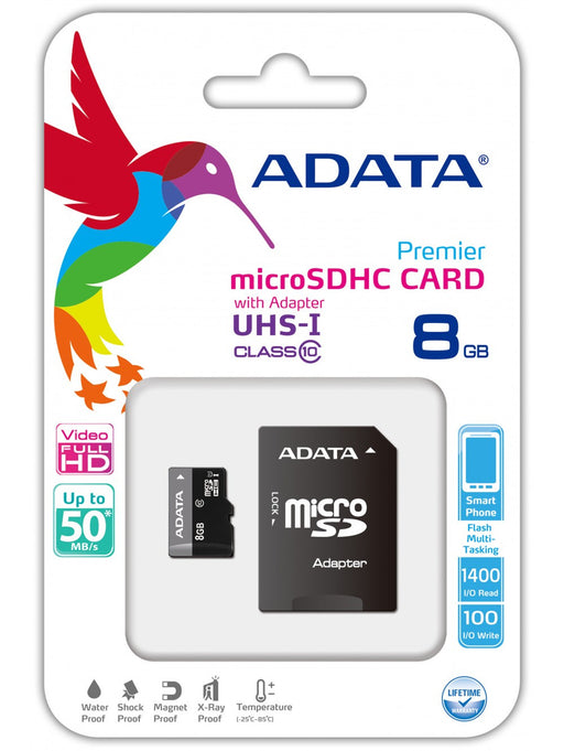 8 GB ADATA SD Card - Memory Card -Warsaw Wireless