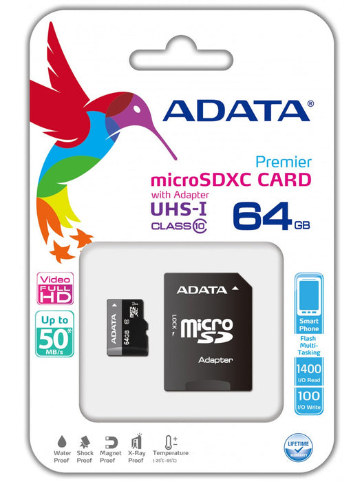 64GB ADATA SD Card - Memory Card -Warsaw Wireless