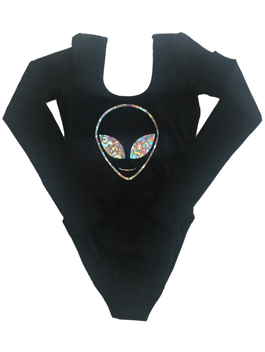 Long Sleeve Alien Outline Bodysuit