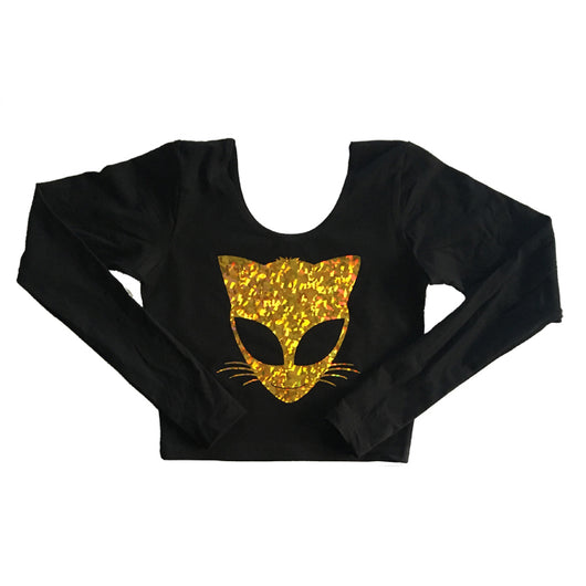 Long Sleeve Space Kitty Crop