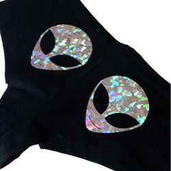 READY TO SHIP Holographic Alien Booty Shorts