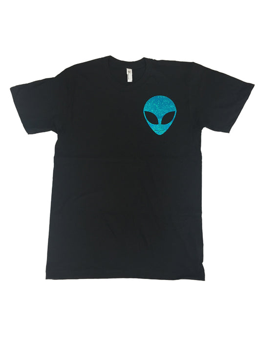 Pocket Holographic Alien Tee