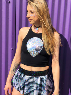 Holographic Dreams Mini Skirt