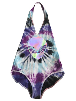 READY TO SHIP Galaxy Tie Dye Alien Bodysuit