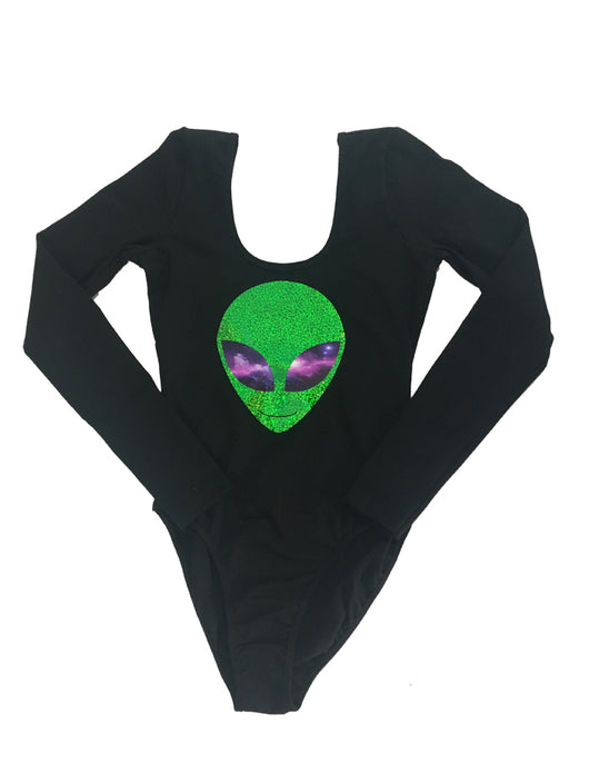 Long Sleeve Green Galaxy Bodysuit