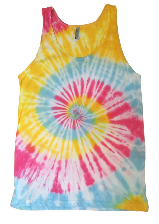 Men's Bright Tie Dye Tank