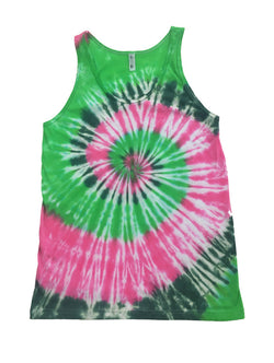 Men's Electric Forest Tie Dye Tank
