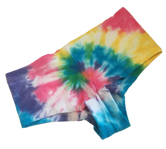 READY TO SHIP Rainbow Tie Dye Booty Shorts