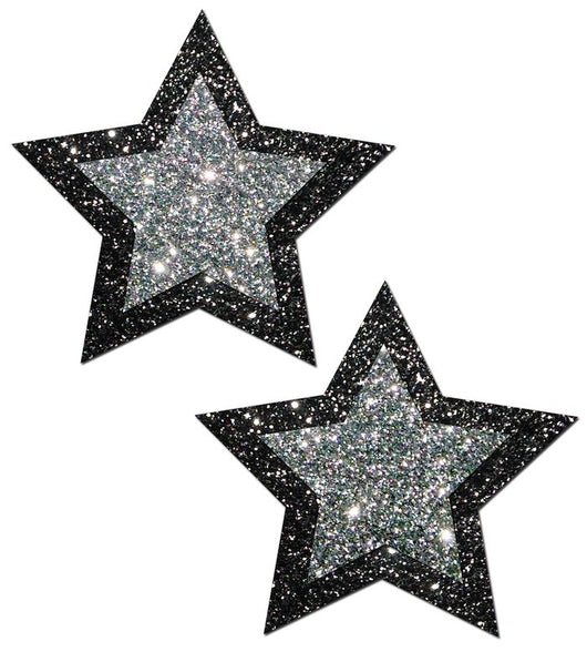 Black and Silver Glitter Star Pastease®