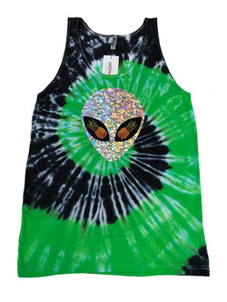 Pineapple Alien Tie Dye Tank