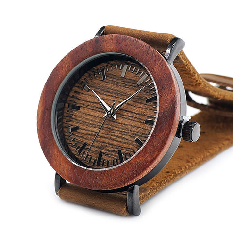 2017 BOBO BIRD Luxury Brand Womens Watches Genuine Leather Strap Wood Watch for Ladies Gifts Relogio Masculino K20