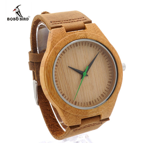 BOBO BIRD 2017 Wood Mens Watches Luxury Brand Bamboo Watch Quartz Casual Fashion Men Wristwatches Clock relogio masculino