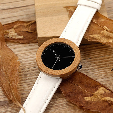 Bamboo Watch Women Gifts Wooden Ladies Brand Wristwatches