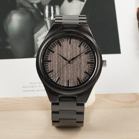 BOBO BIRD 2017 Luxury Brand Men Watches All Black Wooden Wristwatches with Wooden Band Wood Watches for Men relogio masculino