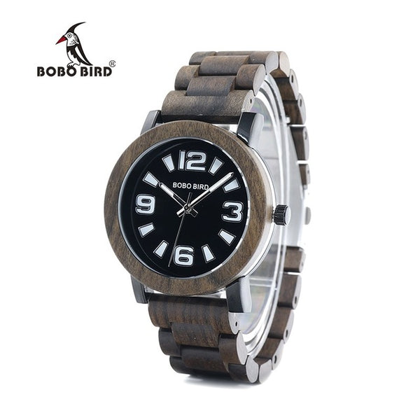 Luxury Brand Wooden Band Watches for Men Japan Movement Quartz