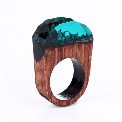 Transparent Round Head Transparent Wood Ring