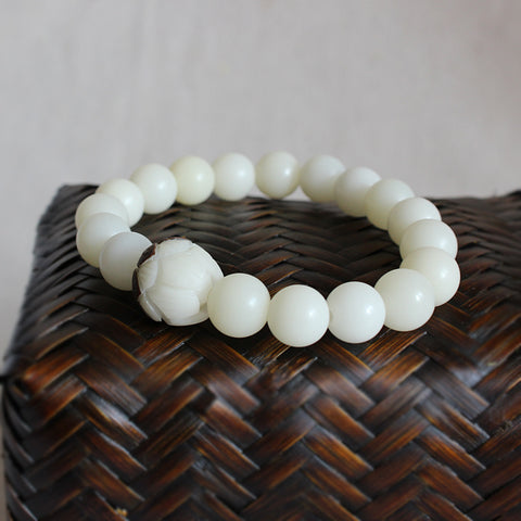 Trend Wholesale White Bodhi Seeds Bracelet For Women