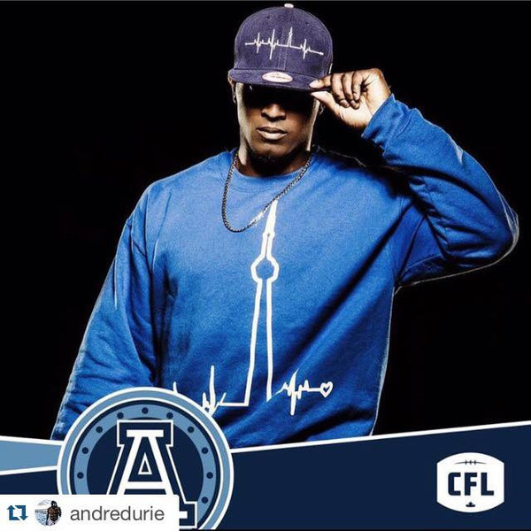 Andre Durie from the Toronto Argos Reppin HBTO