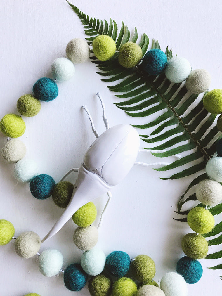 FOREST FLOOR // woolie ball garland