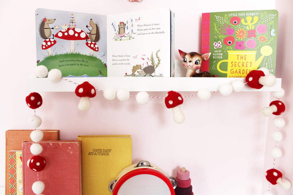 Red toadstool garland