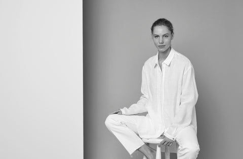 white luxury linen shirt
