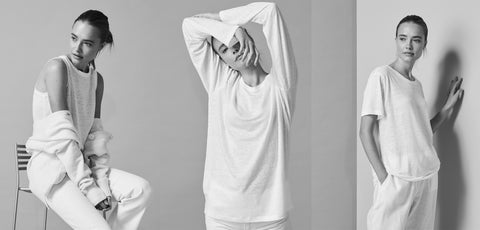 white and white linen t shirt