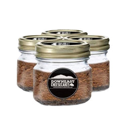 chocolate cheesecakes in a mason jar