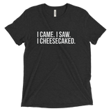 I came. I saw. I Cheesecakes. Short sleeve t-shirt