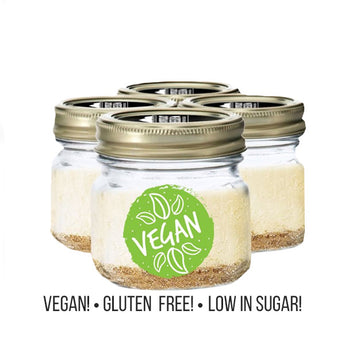 Vegan Gluten Free Low Sugar Cheesecakes In A Mason Jar