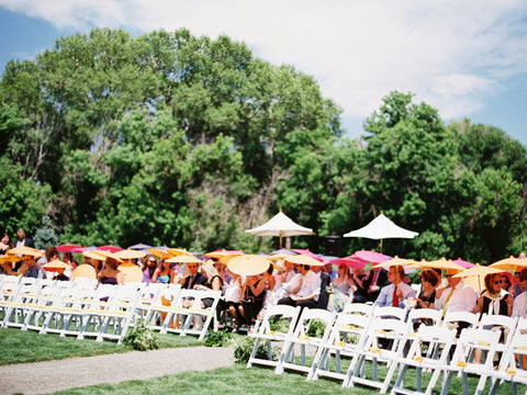 Guests with parasols