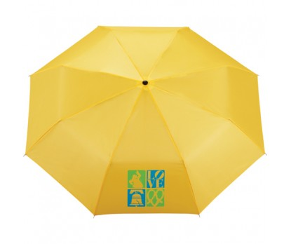 Yellow Small 8-Panel Folding Umbrella