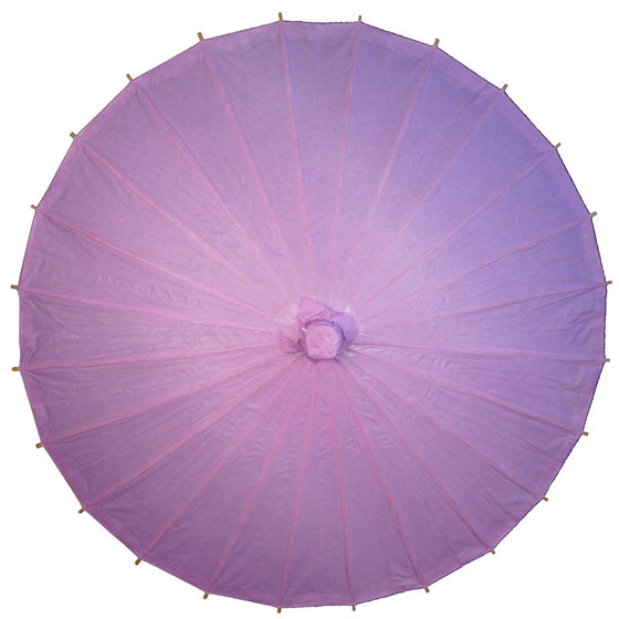 Purple paper parasols for weddings