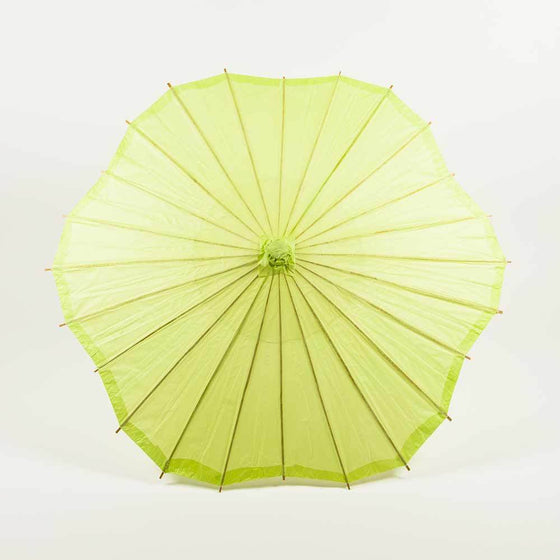 Light Lime Scalloped Paper Parasol