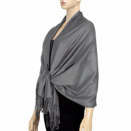 Charcoal Lightweight Pashmina