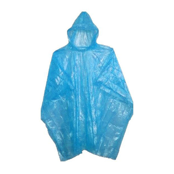 Blue rain ponchos for events