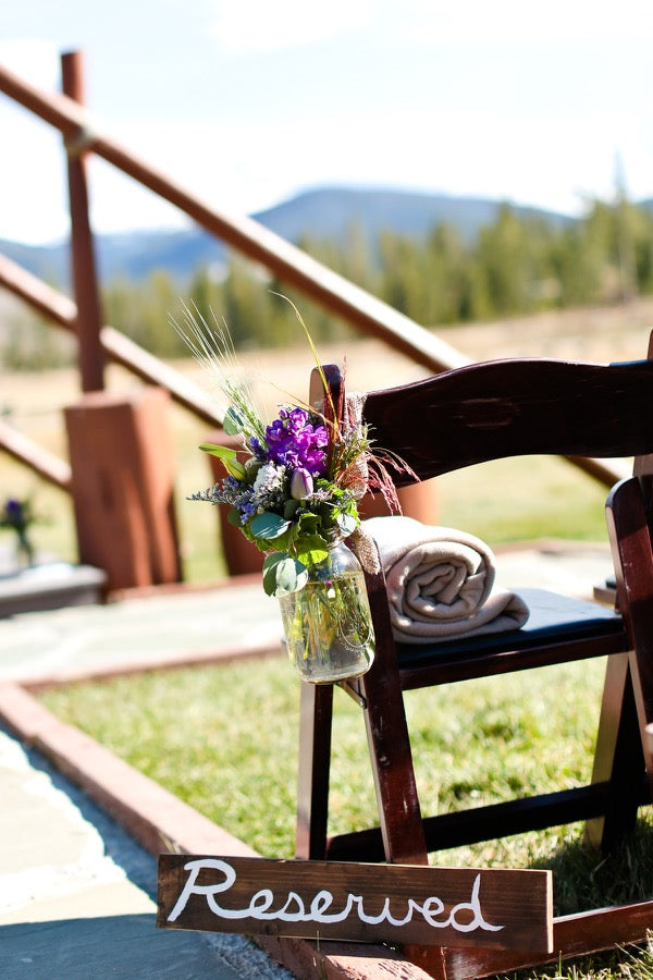 Tan fleece blankets at the ready at Devil's Thumb Ranch, Colorado. Credit: Becky Young Photography