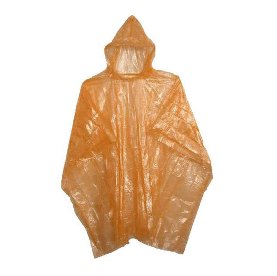 Orange Rain Poncho