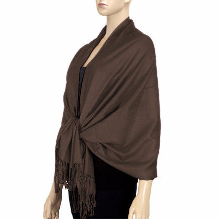 Chocolate Lightweight Pashmina