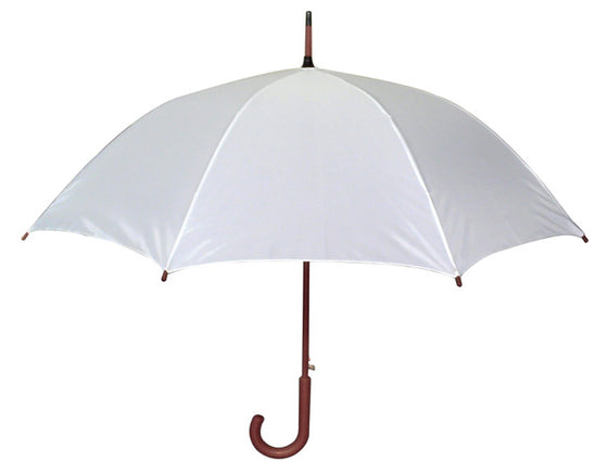 White Hook Handle Umbrella