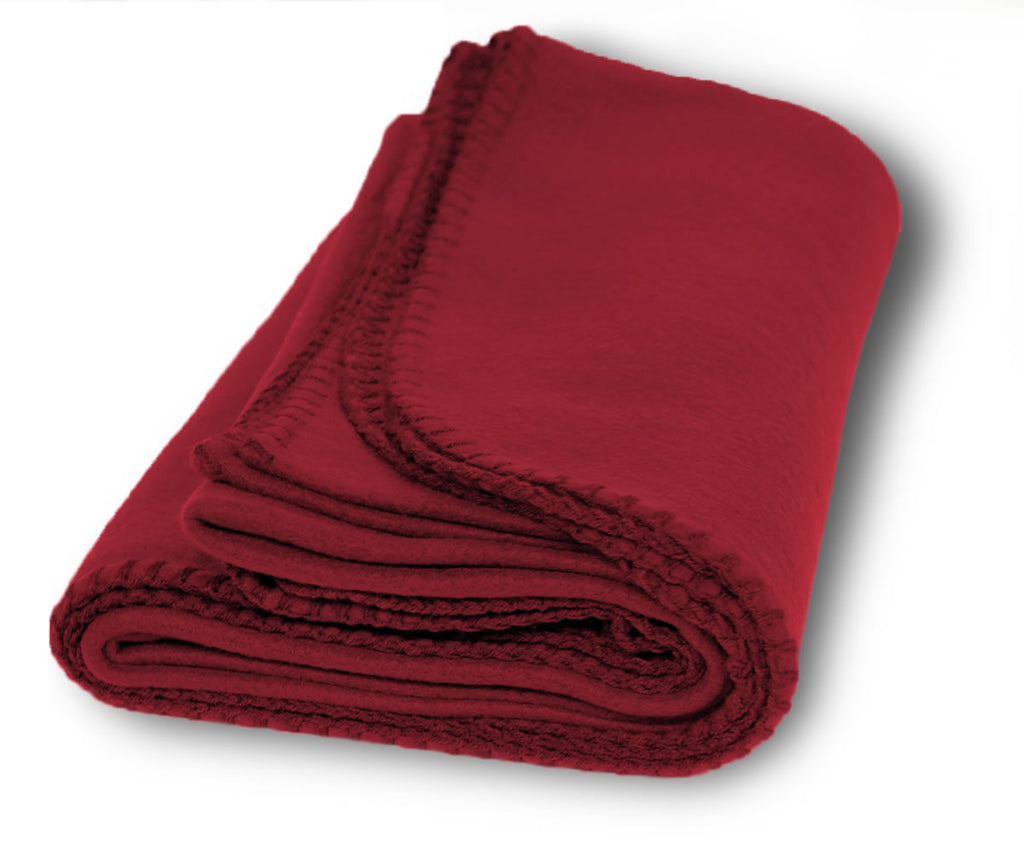 Burgundy fleece blanket