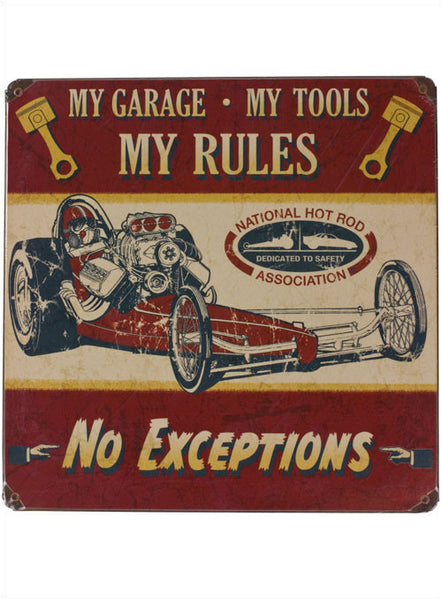 My Tools, My Rules Metal Sign