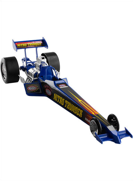 Blue Plastic Toy Dragster