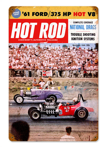 Hot Rod Magazine Dec. 1960 Sign